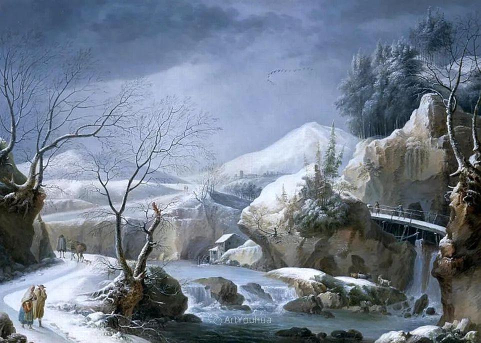 犹如仙境的冬季风景画,意大利艺术家Francesco Foschi插图29