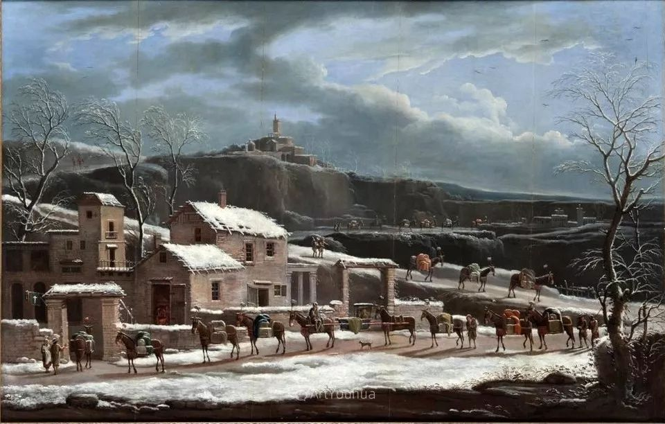 犹如仙境的冬季风景画,意大利艺术家Francesco Foschi插图30