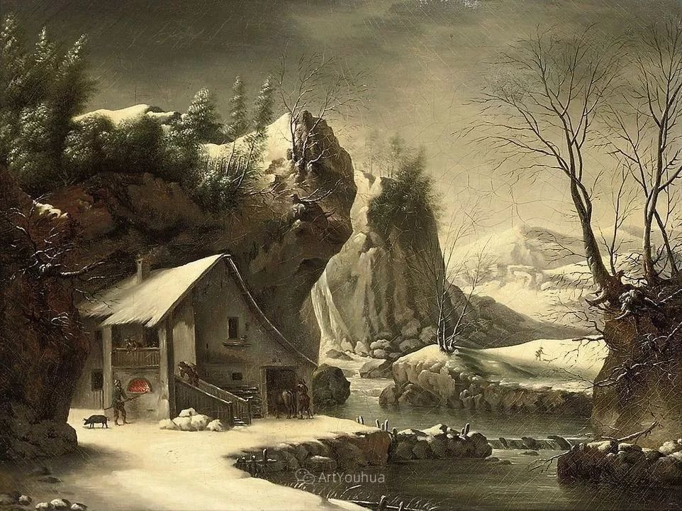 犹如仙境的冬季风景画,意大利艺术家Francesco Foschi插图31