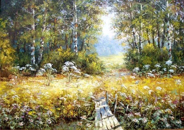 他的风景画里没有忧伤,俄罗斯画家Eugene Sinev插图1