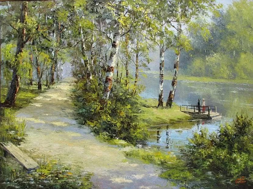 他的风景画里没有忧伤,俄罗斯画家Eugene Sinev插图3