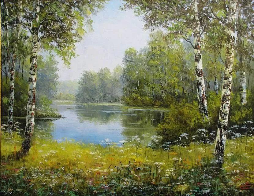 他的风景画里没有忧伤,俄罗斯画家Eugene Sinev插图5