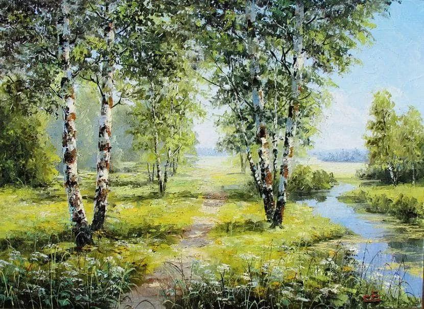 他的风景画里没有忧伤,俄罗斯画家Eugene Sinev插图7