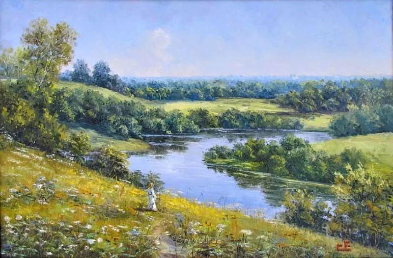 他的风景画里没有忧伤,俄罗斯画家Eugene Sinev插图9