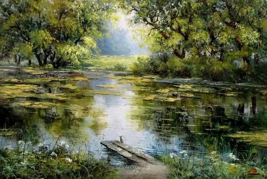 他的风景画里没有忧伤,俄罗斯画家Eugene Sinev插图13