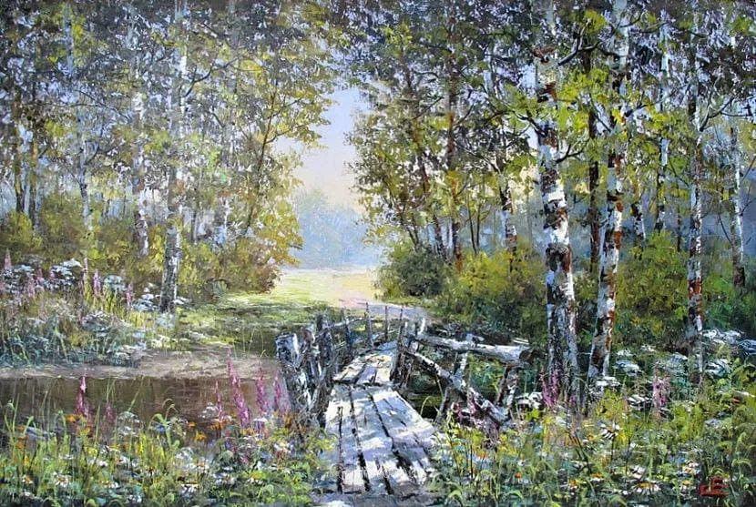他的风景画里没有忧伤,俄罗斯画家Eugene Sinev插图15