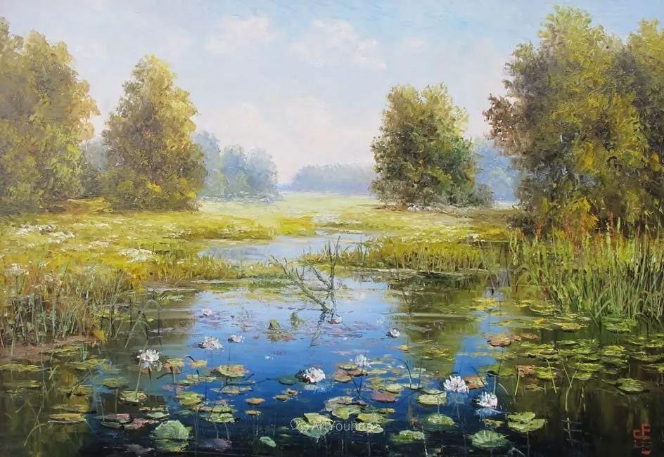 他的风景画里没有忧伤,俄罗斯画家Eugene Sinev插图17
