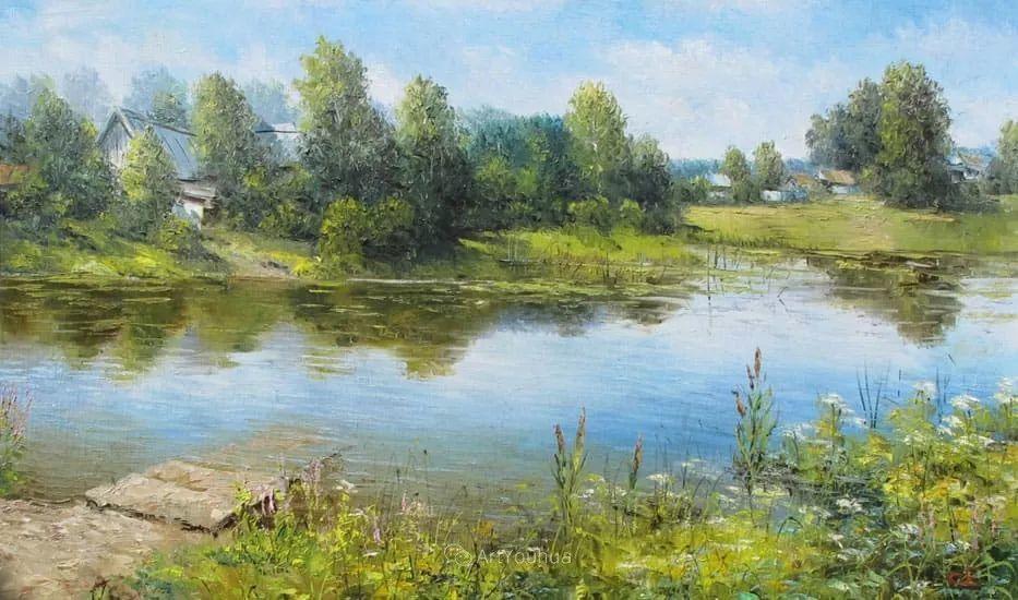 他的风景画里没有忧伤,俄罗斯画家Eugene Sinev插图19