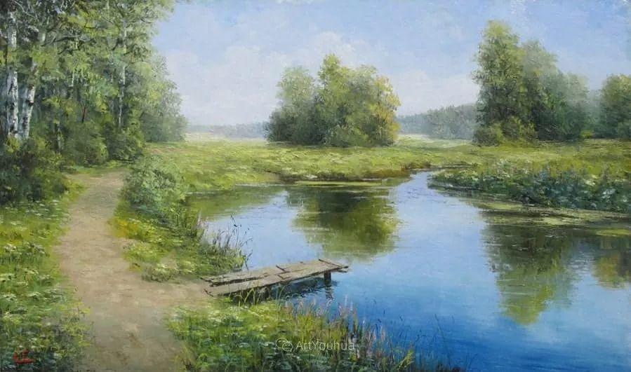 他的风景画里没有忧伤,俄罗斯画家Eugene Sinev插图21