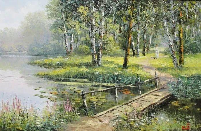 他的风景画里没有忧伤,俄罗斯画家Eugene Sinev插图23