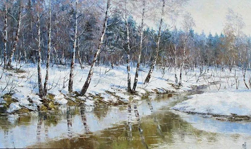 他的风景画里没有忧伤,俄罗斯画家Eugene Sinev插图25