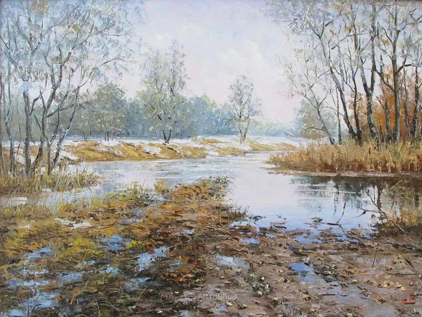 他的风景画里没有忧伤,俄罗斯画家Eugene Sinev插图27