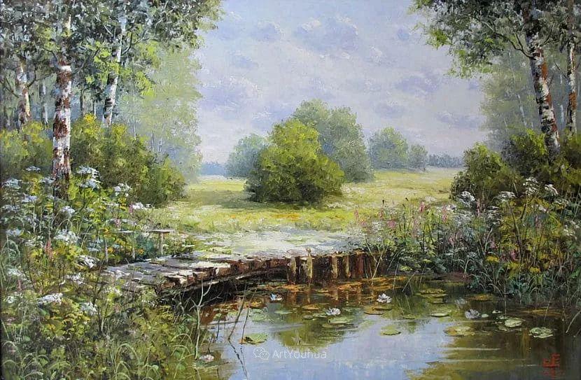 他的风景画里没有忧伤,俄罗斯画家Eugene Sinev插图29