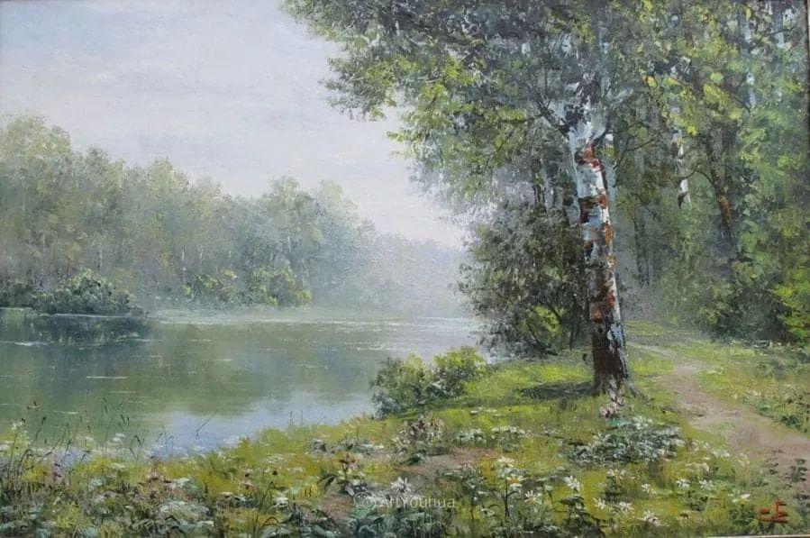他的风景画里没有忧伤,俄罗斯画家Eugene Sinev插图31