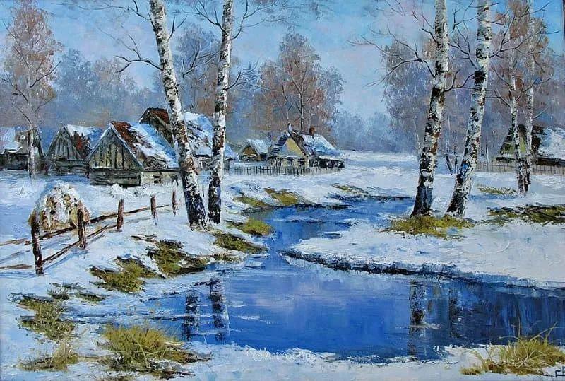 他的风景画里没有忧伤,俄罗斯画家Eugene Sinev插图33