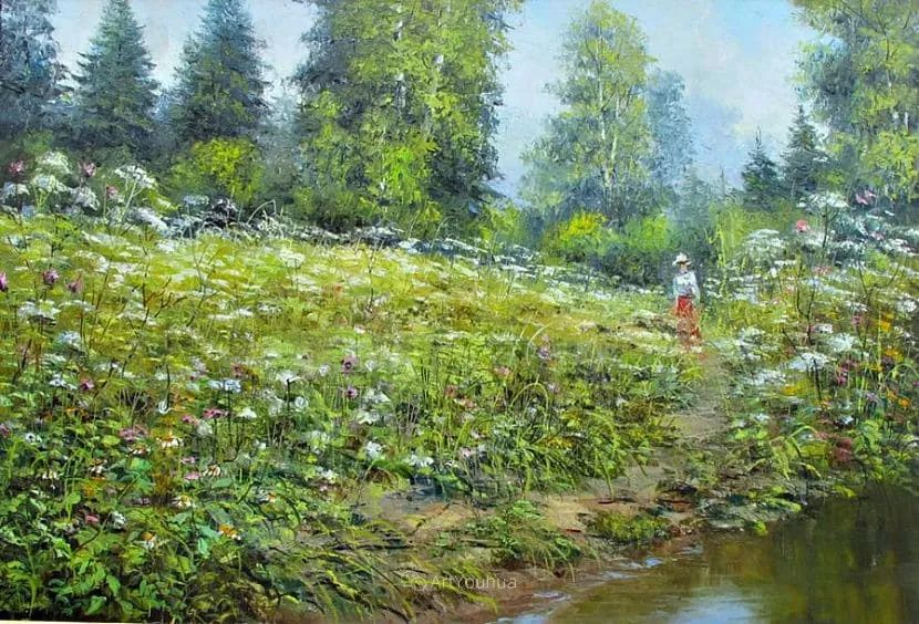 他的风景画里没有忧伤,俄罗斯画家Eugene Sinev插图35