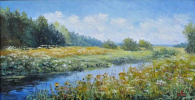 他的风景画里没有忧伤,俄罗斯画家Eugene Sinev插图37