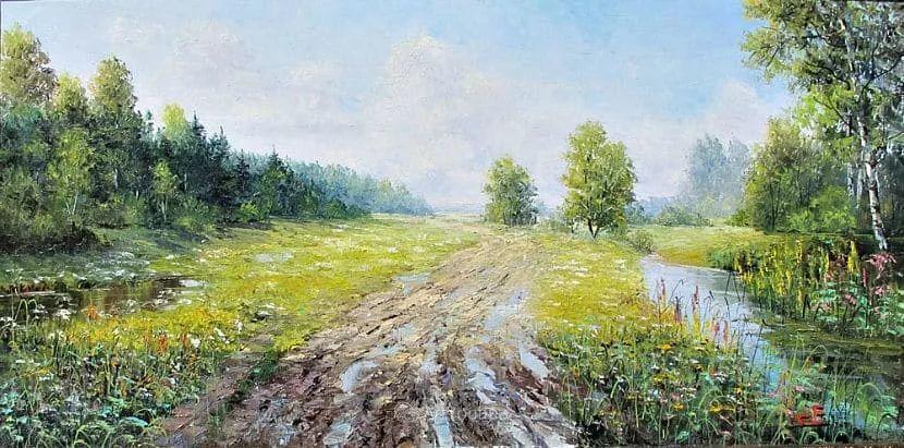 他的风景画里没有忧伤,俄罗斯画家Eugene Sinev插图41