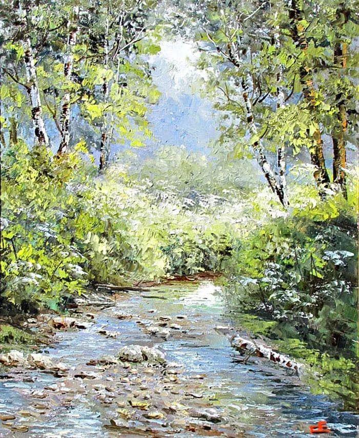 他的风景画里没有忧伤,俄罗斯画家Eugene Sinev插图43