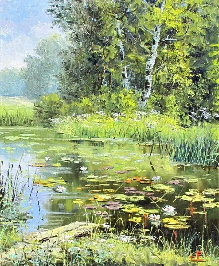 他的风景画里没有忧伤,俄罗斯画家Eugene Sinev插图45