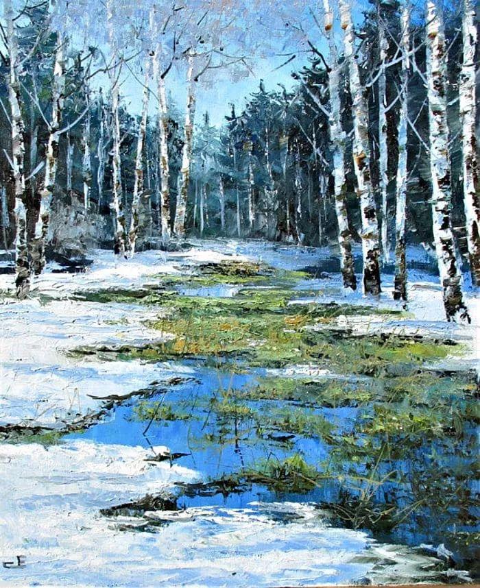 他的风景画里没有忧伤,俄罗斯画家Eugene Sinev插图49