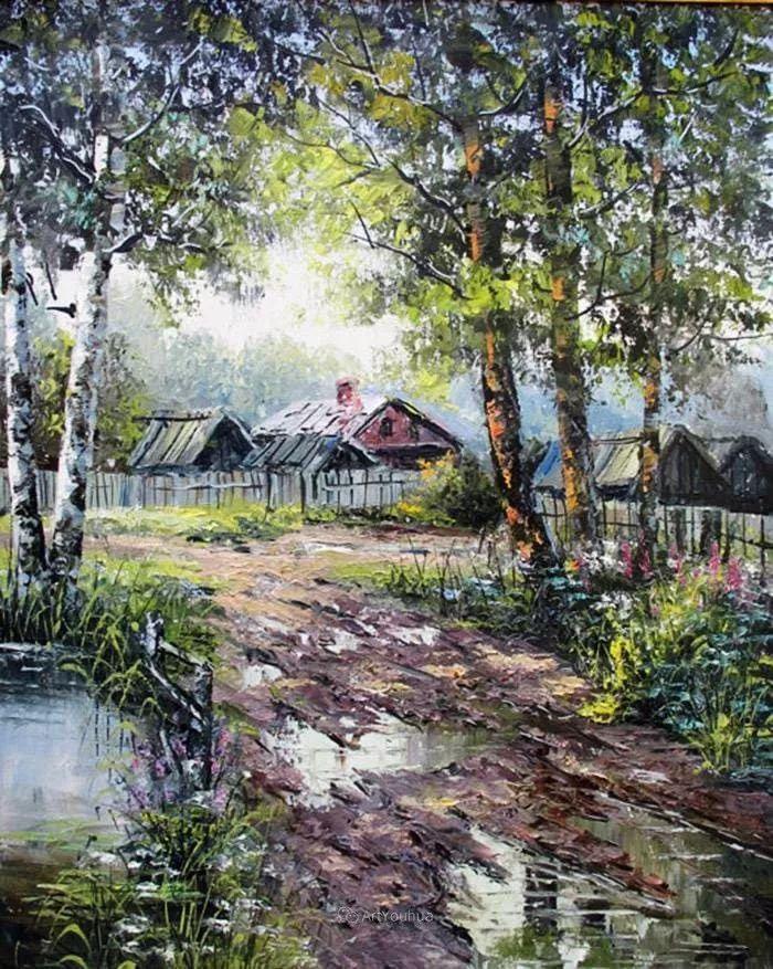 他的风景画里没有忧伤,俄罗斯画家Eugene Sinev插图51