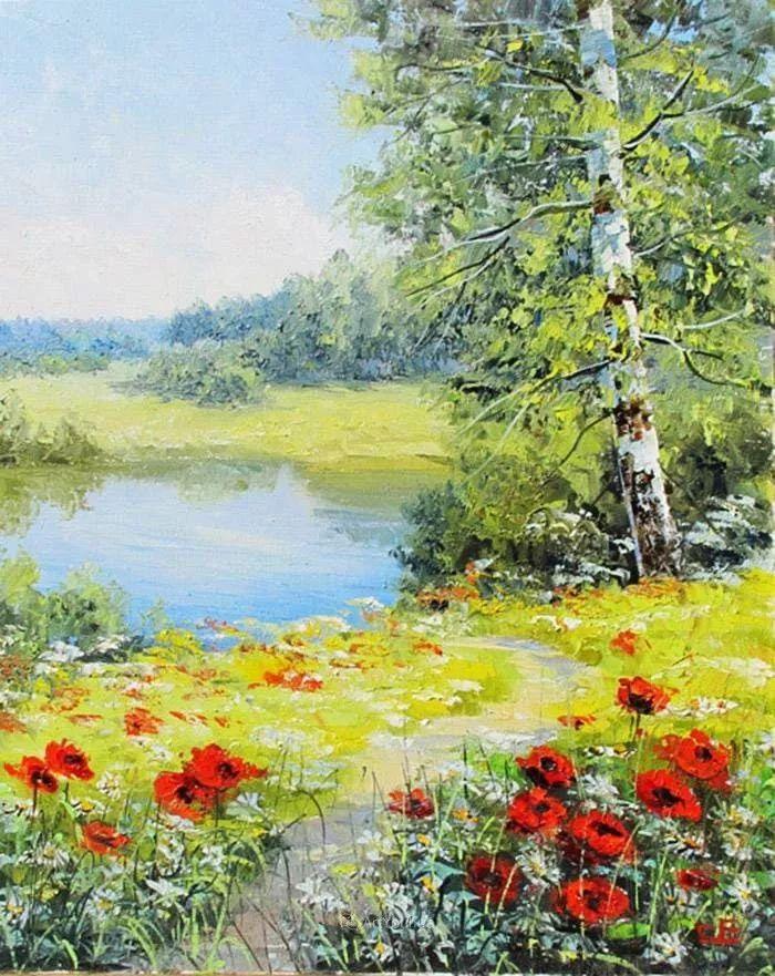 他的风景画里没有忧伤,俄罗斯画家Eugene Sinev插图53