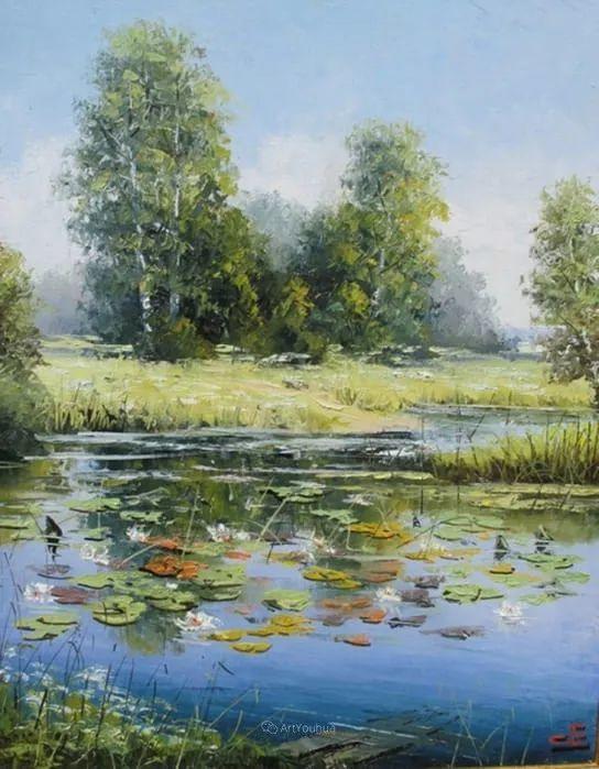他的风景画里没有忧伤,俄罗斯画家Eugene Sinev插图55