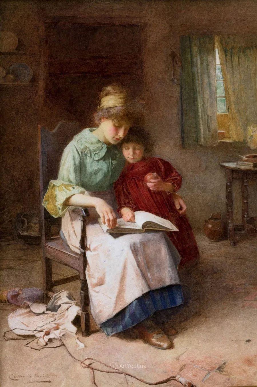 19世纪后期家庭生活场景,英国艺术家Carlton Alfred Smith插图1