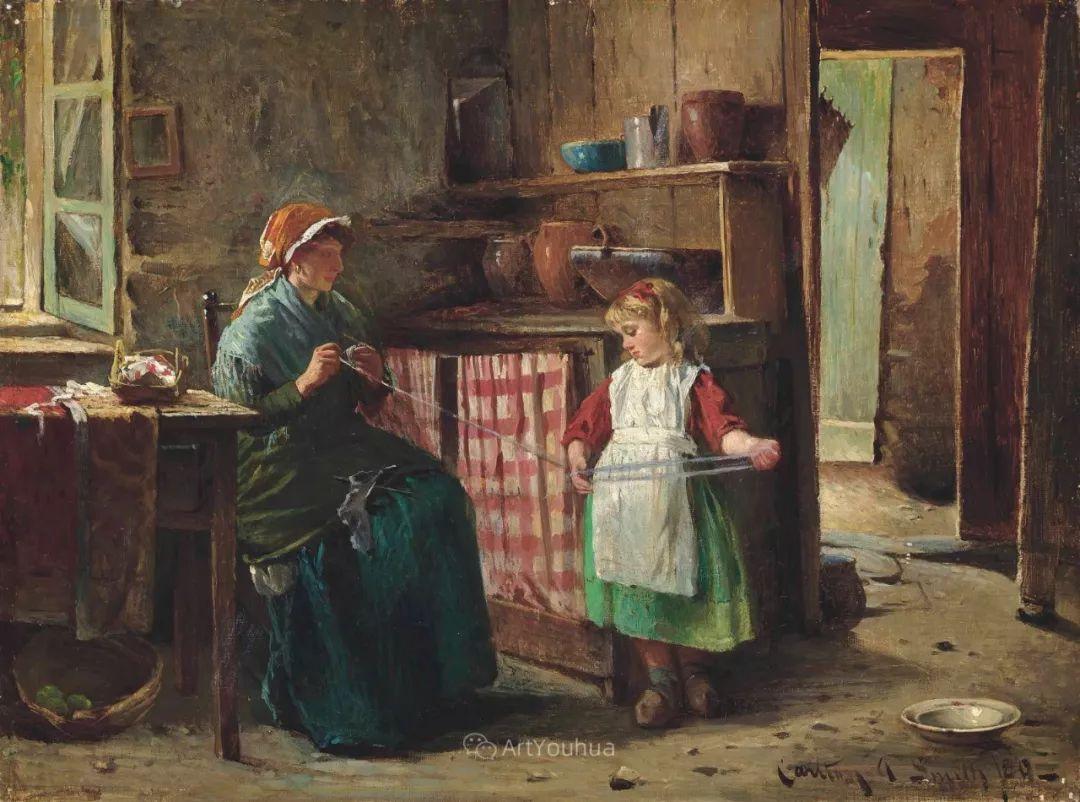 19世纪后期家庭生活场景,英国艺术家Carlton Alfred Smith插图9