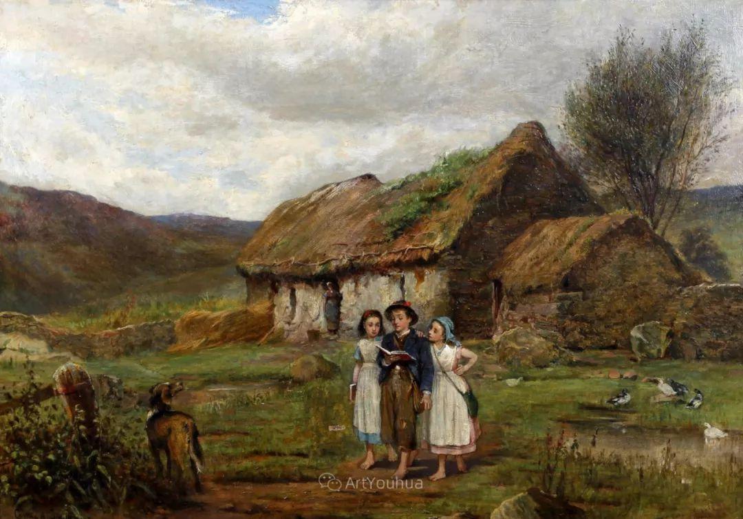 19世纪后期家庭生活场景,英国艺术家Carlton Alfred Smith插图13
