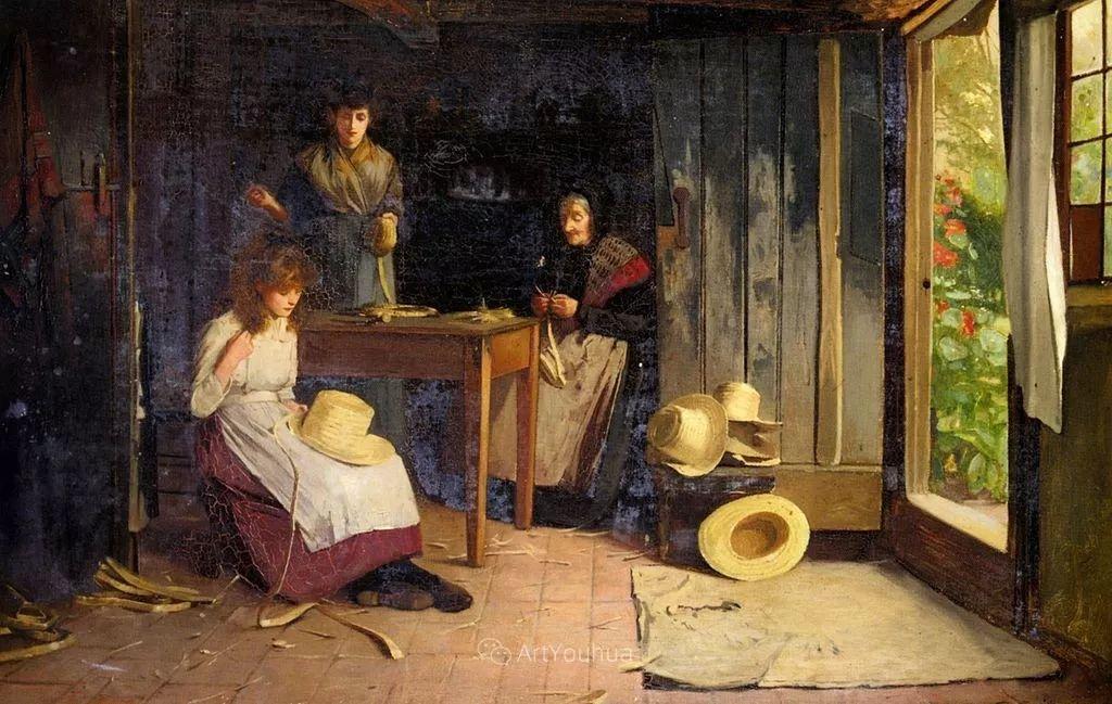 19世纪后期家庭生活场景,英国艺术家Carlton Alfred Smith插图23