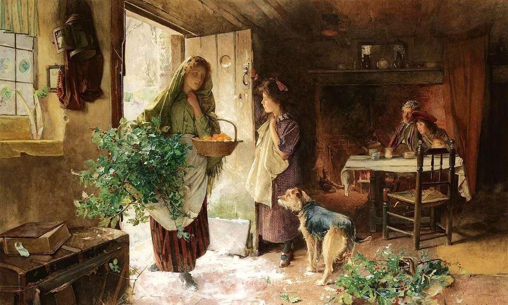 19世纪后期家庭生活场景,英国艺术家Carlton Alfred Smith插图25