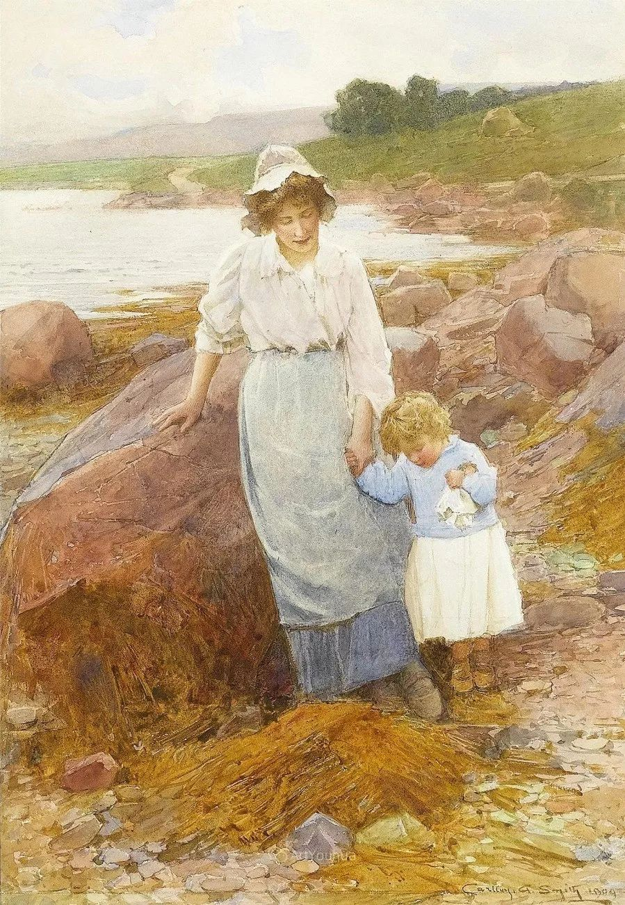 19世纪后期家庭生活场景,英国艺术家Carlton Alfred Smith插图29