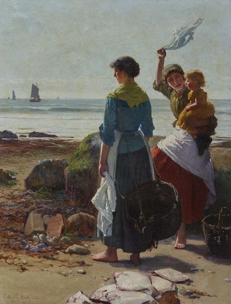 19世纪后期家庭生活场景,英国艺术家Carlton Alfred Smith插图31