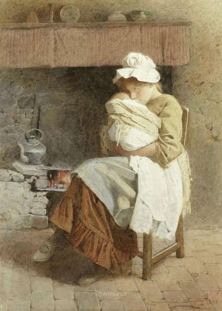 19世纪后期家庭生活场景,英国艺术家Carlton Alfred Smith插图35