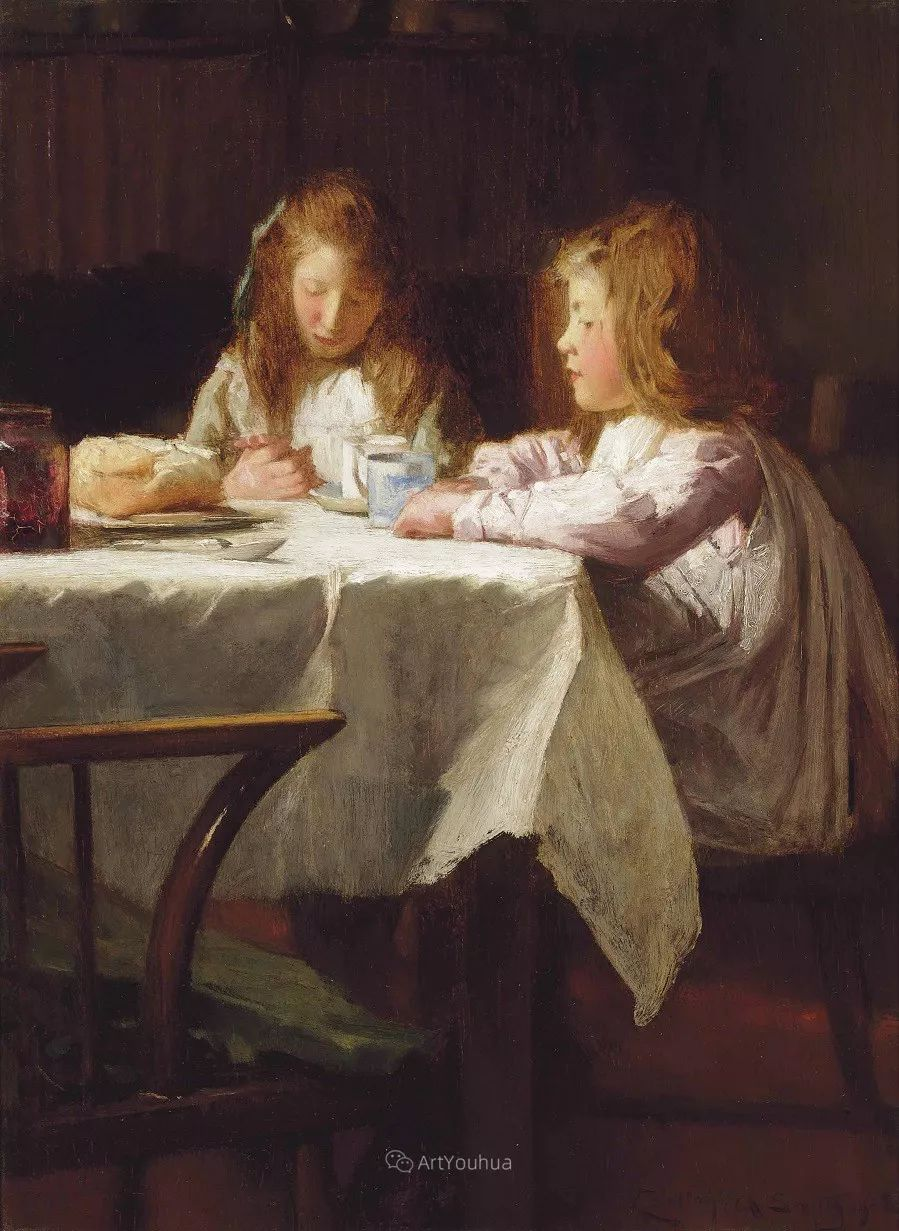 19世纪后期家庭生活场景,英国艺术家Carlton Alfred Smith插图37