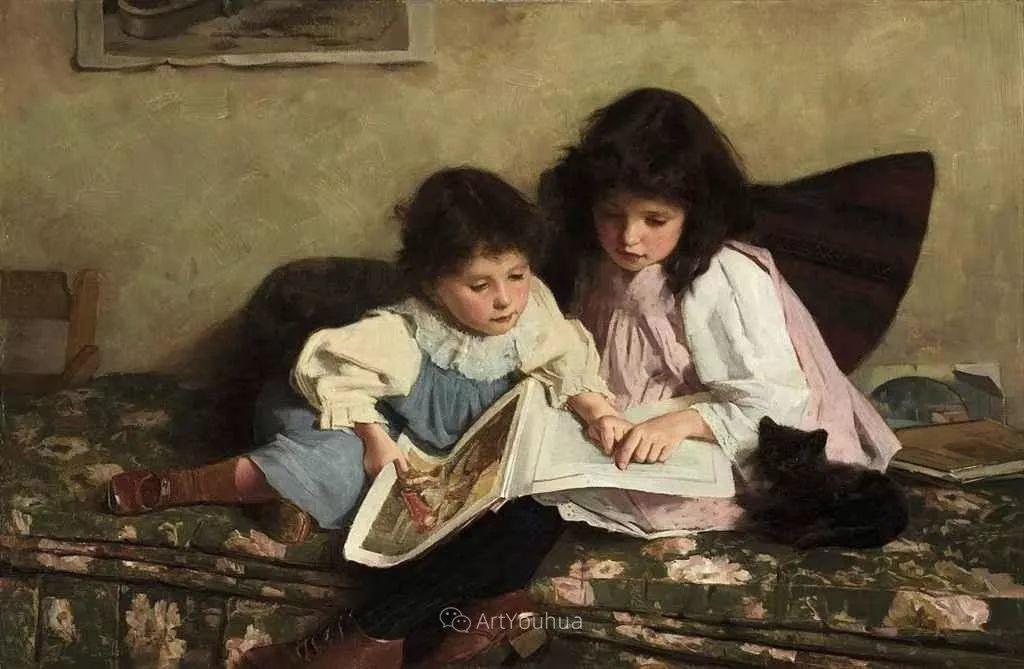 19世纪后期家庭生活场景,英国艺术家Carlton Alfred Smith插图39