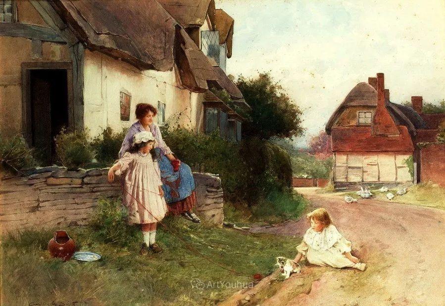 19世纪后期家庭生活场景,英国艺术家Carlton Alfred Smith插图41
