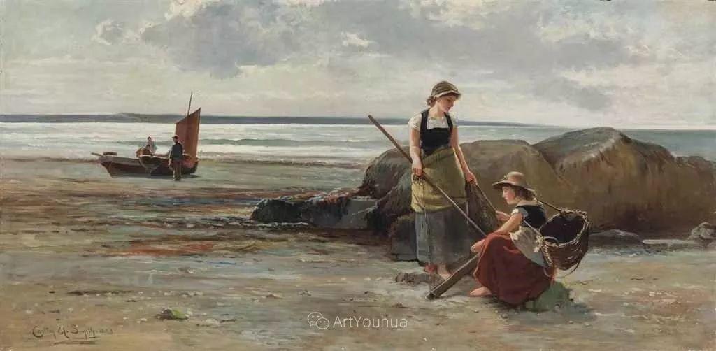 19世纪后期家庭生活场景,英国艺术家Carlton Alfred Smith插图43