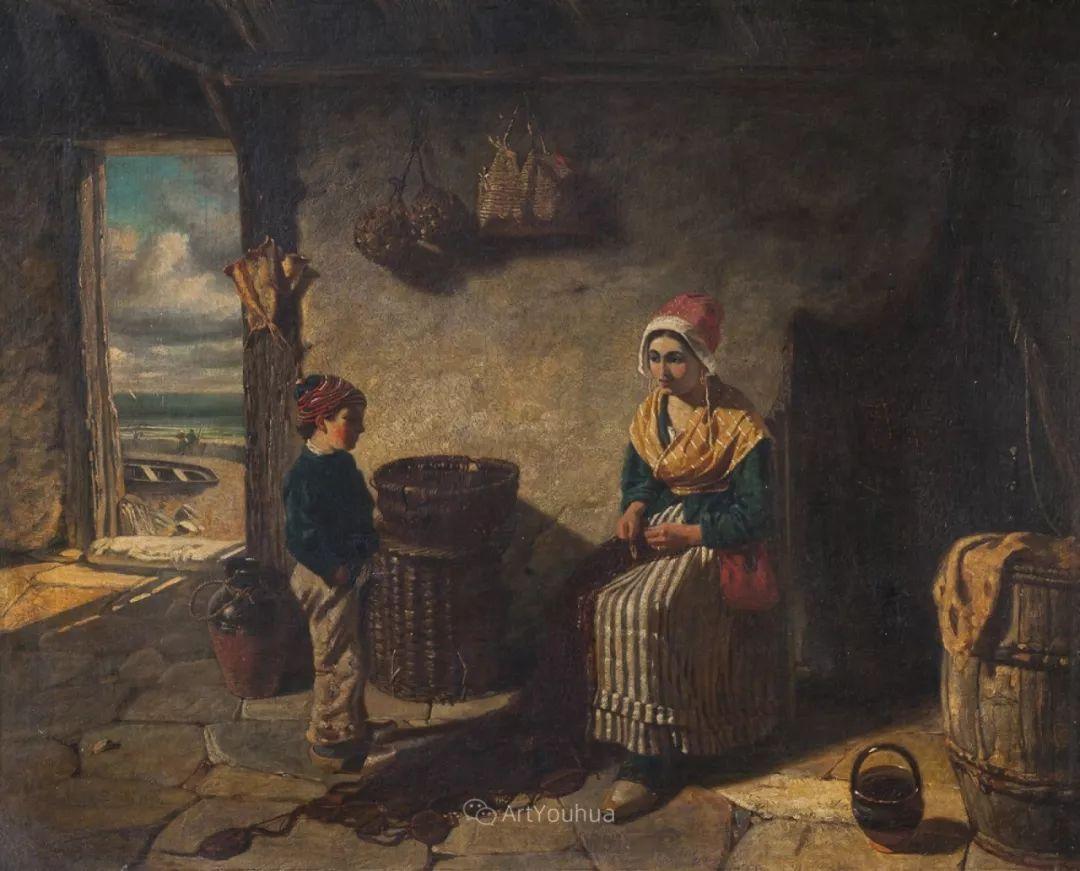 19世纪后期家庭生活场景,英国艺术家Carlton Alfred Smith插图46