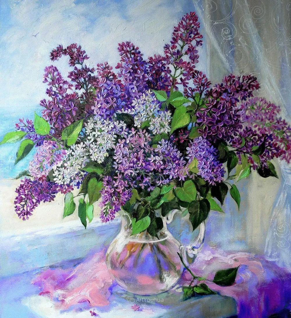 静物花卉与风景,俄罗斯艺术家Simonova Olga Georgievna插图