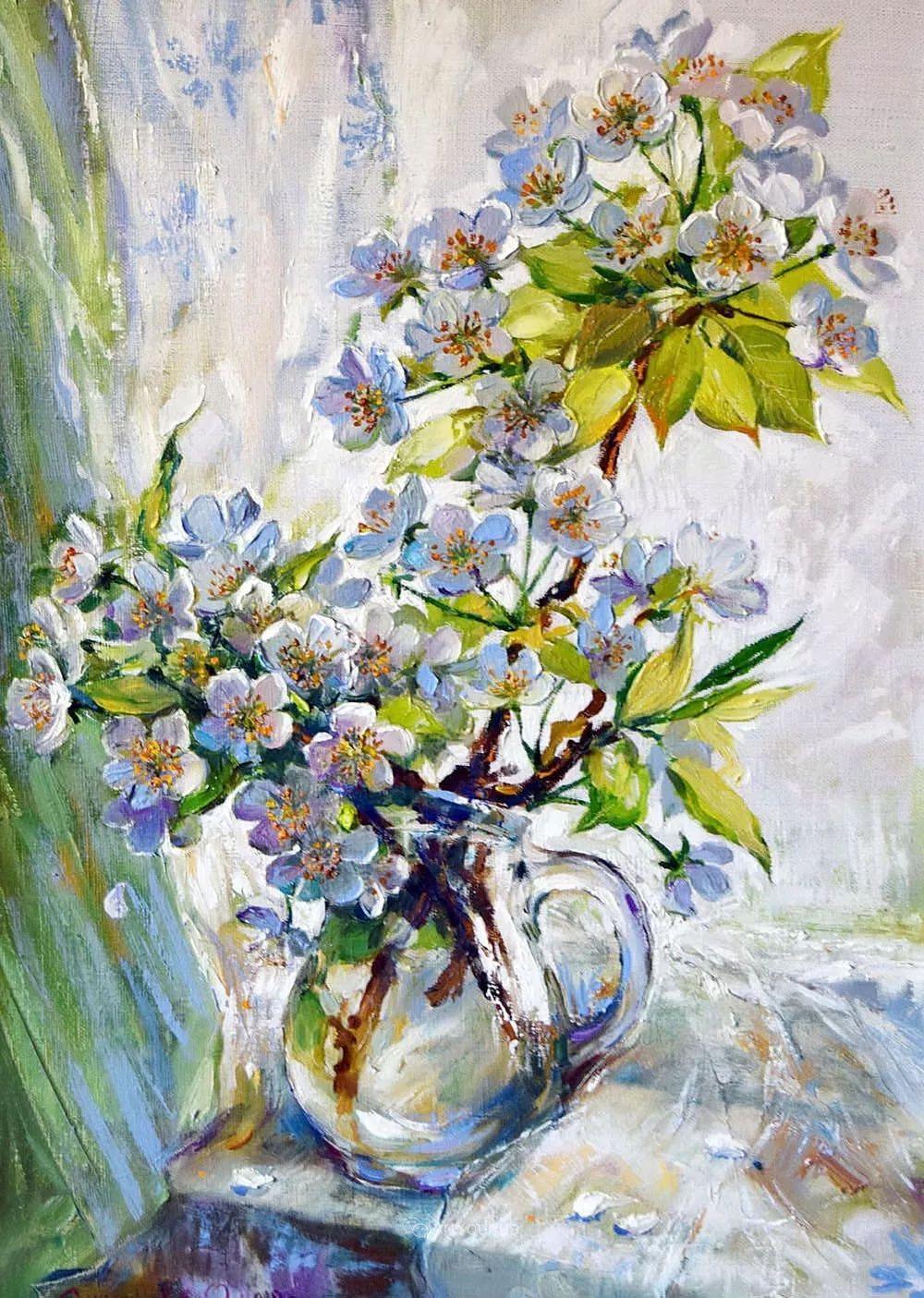 静物花卉与风景,俄罗斯艺术家Simonova Olga Georgievna插图1
