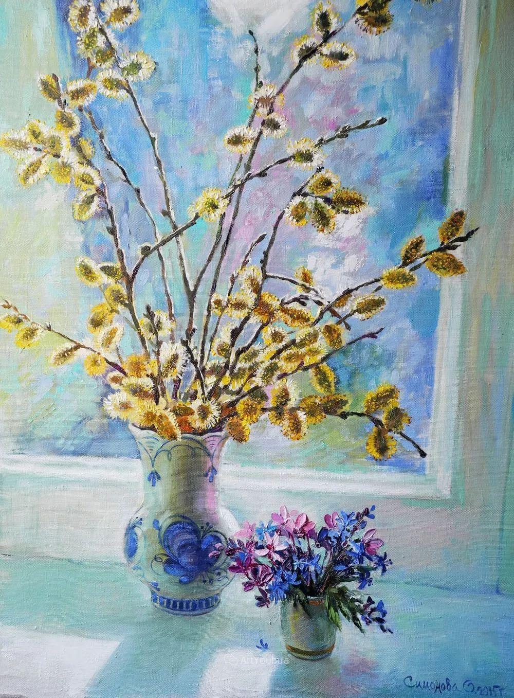 静物花卉与风景,俄罗斯艺术家Simonova Olga Georgievna插图2