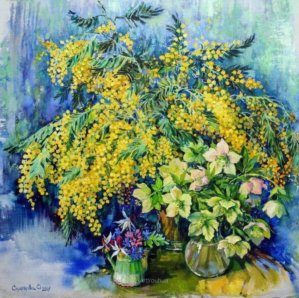 静物花卉与风景,俄罗斯艺术家Simonova Olga Georgievna插图3