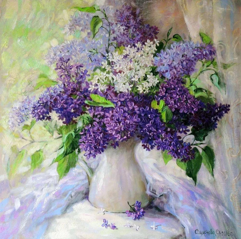 静物花卉与风景,俄罗斯艺术家Simonova Olga Georgievna插图4