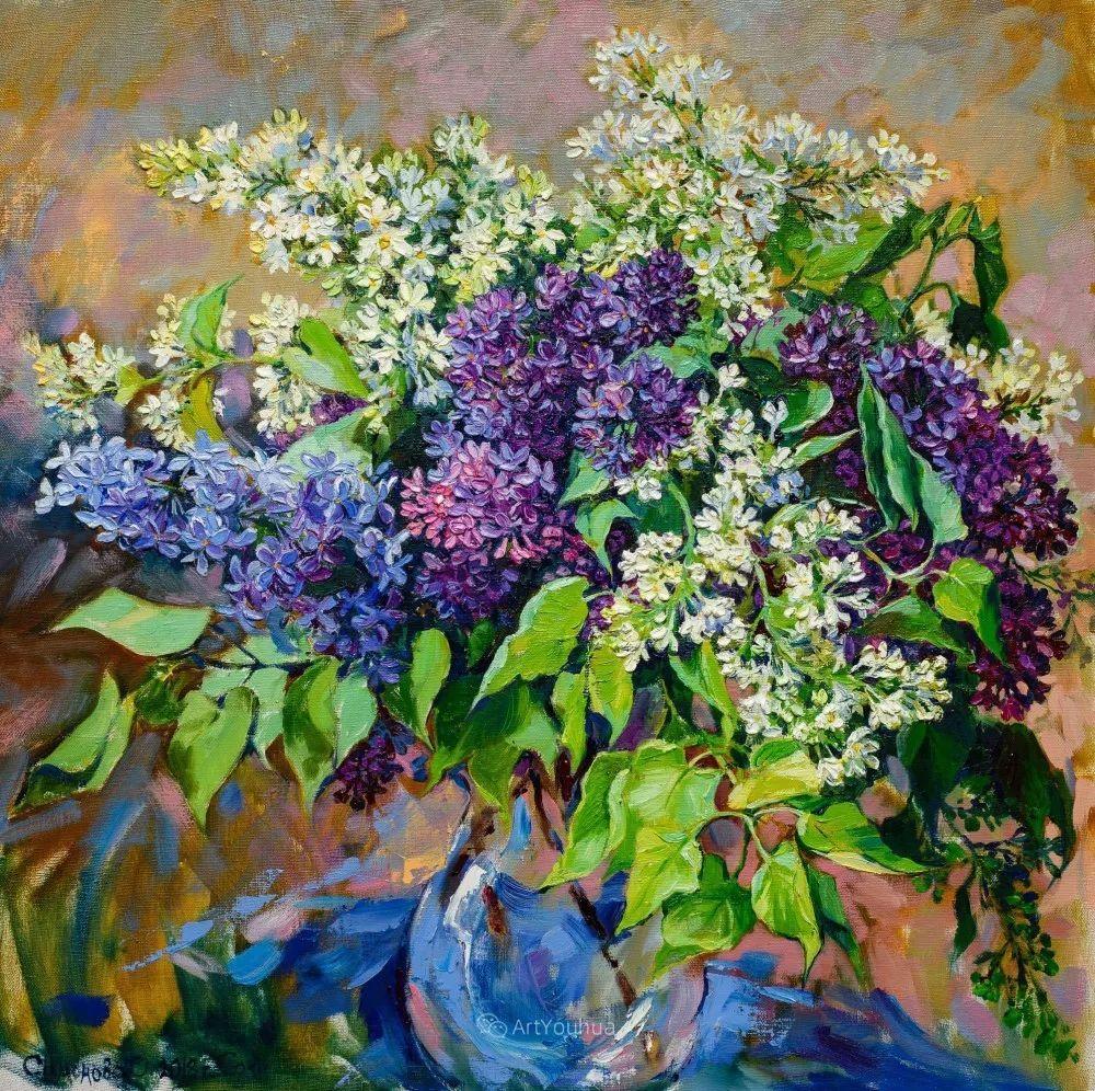 静物花卉与风景,俄罗斯艺术家Simonova Olga Georgievna插图5