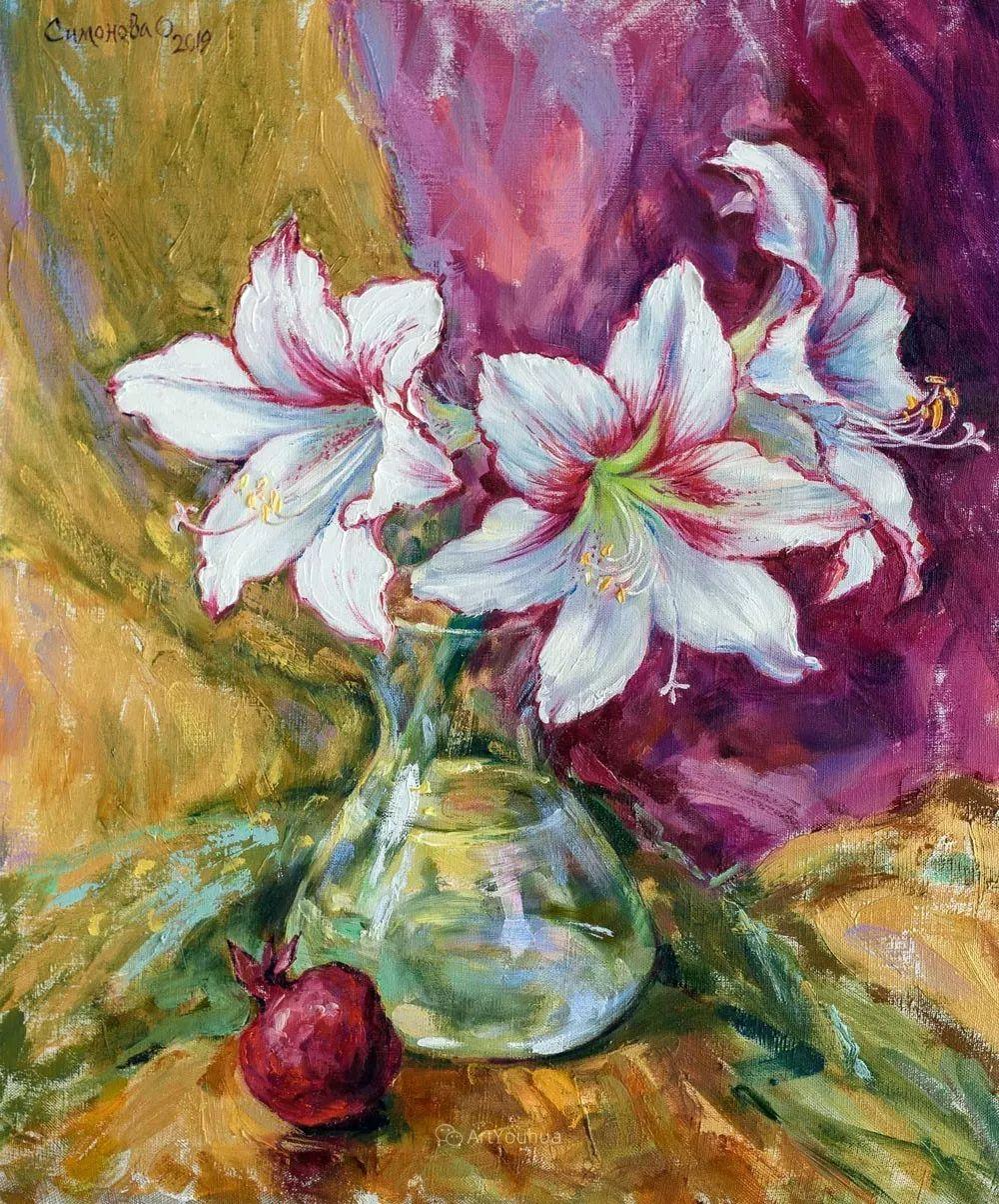 静物花卉与风景,俄罗斯艺术家Simonova Olga Georgievna插图6