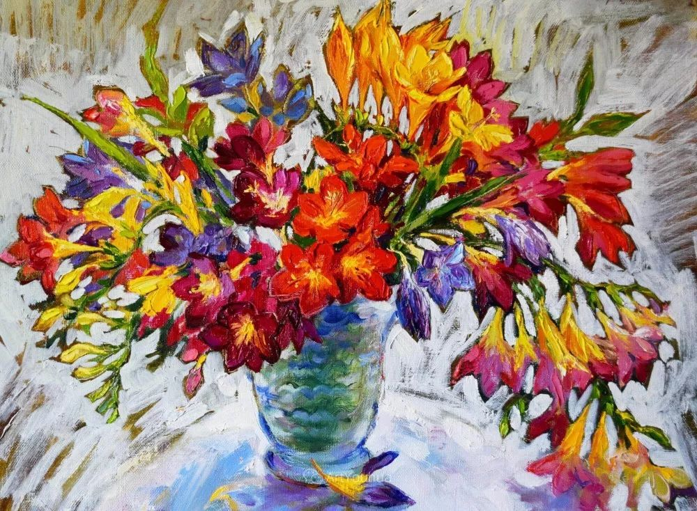 静物花卉与风景,俄罗斯艺术家Simonova Olga Georgievna插图7