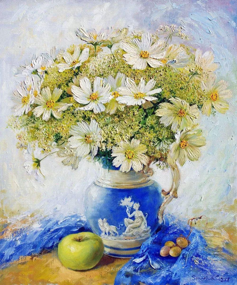 静物花卉与风景,俄罗斯艺术家Simonova Olga Georgievna插图8